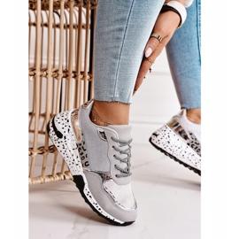PS1 Damskie Sneakersy Na Koturnie Srebrne Avery szare wielokolorowe 1
