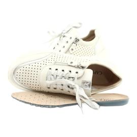 Caprice buty sportowe wiązane tęg.H 23750 white comb białe srebrny 4