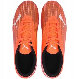 Buty piłkarskie Puma Ultra 4.1 Fg Ag Junior 106100 01 pomarańczowe pomarańczowe 1