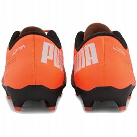 Buty piłkarskie Puma Ultra 4.1 Fg Ag Junior 106100 01 pomarańczowe pomarańczowe 4