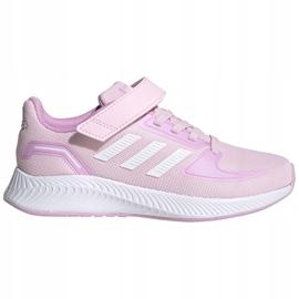 Buty adidas Runfalcon 2.0 C Jr FZ0119 czarne różowe 1