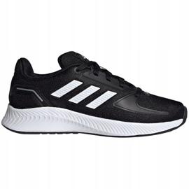 Buty adidas Runfalcon 2.0 K Jr FY9495 czarne niebieskie 1