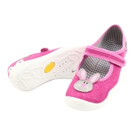 Befado obuwie dziecięce 114X430 różowe szare 4