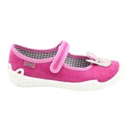 Befado obuwie dziecięce 114X430 różowe szare 1