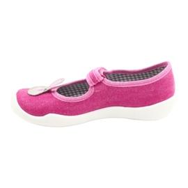 Befado obuwie dziecięce 114X430 różowe szare 2