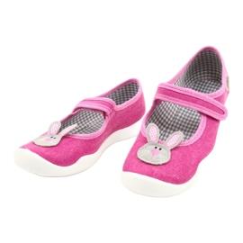 Befado obuwie dziecięce 114X430 różowe szare 3