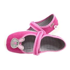 Befado obuwie dziecięce 114X430 różowe szare 5
