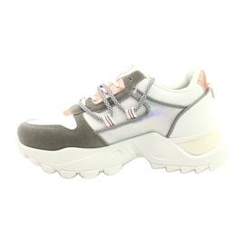 Evento Sportowe damskie sneakersy News 21SP26-3973 białe srebrny szare złoty 4