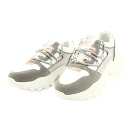 Evento Sportowe damskie sneakersy News 21SP26-3973 białe srebrny szare złoty 5