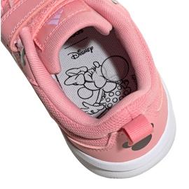Buty dla dzieci adidas Tensuar C różowe FZ3212 białe 5
