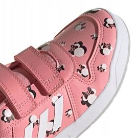 Buty dla dzieci adidas Tensuar C różowe FZ3212 białe 4