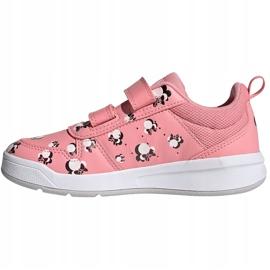 Buty dla dzieci adidas Tensuar C różowe FZ3212 białe 1