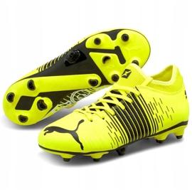 Buty piłkarskie Puma Future Z 4.1 Fg Ag Jr 106400 01 wielokolorowe żółte 3