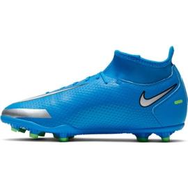 Buty piłkarskie Nike Phantom Gt Club Df FG/MG Jr CW6727-400 wielokolorowe niebieskie 2