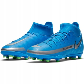 Buty piłkarskie Nike Phantom Gt Club Df FG/MG Jr CW6727-400 wielokolorowe niebieskie 3