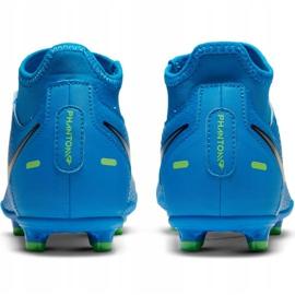 Buty piłkarskie Nike Phantom Gt Club Df FG/MG Jr CW6727-400 wielokolorowe niebieskie 4