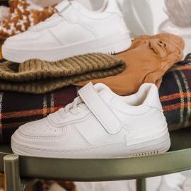 Apawwa Dziecięce Sportowe Buty Na Rzep Białe Airy 10