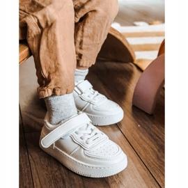 Apawwa Dziecięce Sportowe Buty Na Rzep Białe Airy 9