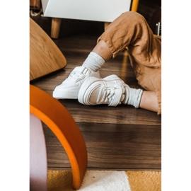 Apawwa Dziecięce Sportowe Buty Na Rzep Białe Airy 11