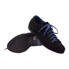 Półbuty męskie sportowe Pilpol  C191 czarne niebieskie 3