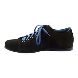 Półbuty męskie sportowe Pilpol  C191 czarne niebieskie 2