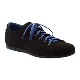 Półbuty męskie sportowe Pilpol  C191 czarne niebieskie 1