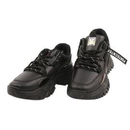 Evento Sportowe damskie sneakersy News 21SP26-3925 czarny czarne 3