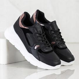 SHELOVET Czarne Sneakersy wielokolorowe 2