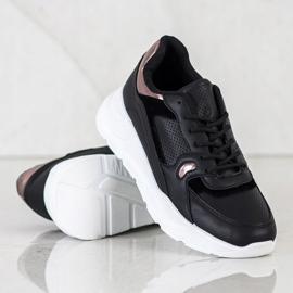 SHELOVET Czarne Sneakersy wielokolorowe 3