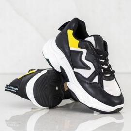 Fashion Wygodne Sneakersy białe czarne żółte 1