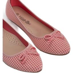 Różowe baleriny materiałowe Del Amor 3