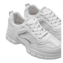 Białe sneakersy sportowe 3157 srebrny 3