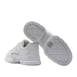 Białe sneakersy sportowe 3157 srebrny 2