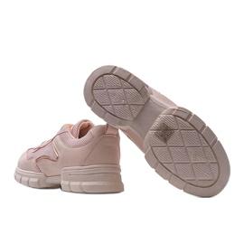 Różowe sneakersy sportowe 3157 2