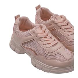Różowe sneakersy sportowe 3157 3