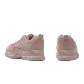 Różowe sneakersy sportowe 3157 4