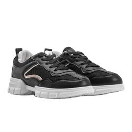 Czarne sneakersy sportowe 3157 2
