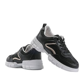 Czarne sneakersy sportowe 3157 3