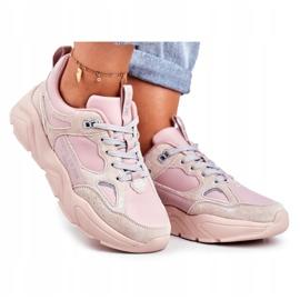 Buty sportowe Hell Rosa Big Star GG274655 beżowy różowe szare 2