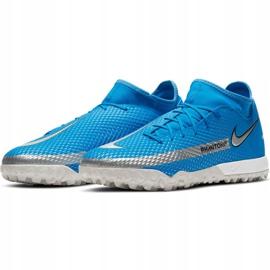 Buty piłkarskie Nike Phantom Gt Academy Df Tf niebieskie CW6666 400 3