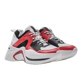 Czerwone sneakersy Thenisse białe czarne 1