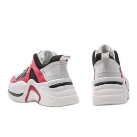 Czerwone sneakersy Thenisse białe czarne 2
