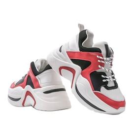 Czerwone sneakersy Thenisse białe czarne 3