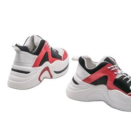Czerwone sneakersy Thenisse białe czarne 4