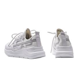 Białe sneakersy sportowe Lativia szare 2