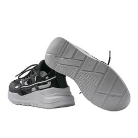Czarne sneakersy sportowe Lativia szare 2