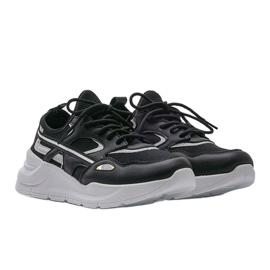 Czarne sneakersy sportowe Lativia szare 1