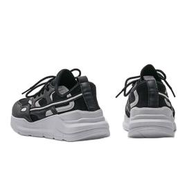Czarne sneakersy sportowe Lativia szare 3