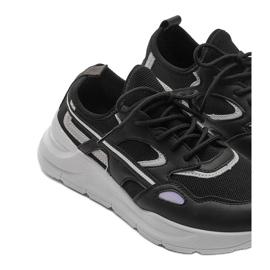 Czarne sneakersy sportowe Lativia szare 4