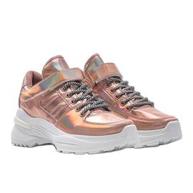 Różowe sneakersy holograficzne lollypop 1